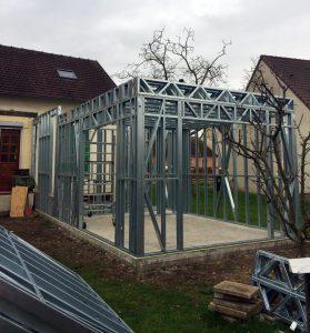 Extension maison contemporaine structure metallique à Mantes-la-jolie (78)
