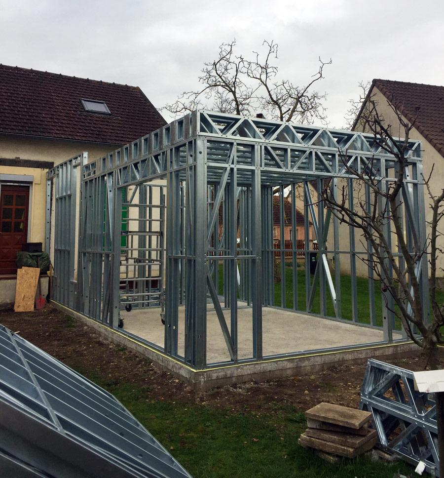 Maison Ossature Métallique Contemporaine extension de maison   kmg - entreprise de de construction