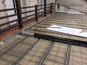 Pose plancher préfabriqué