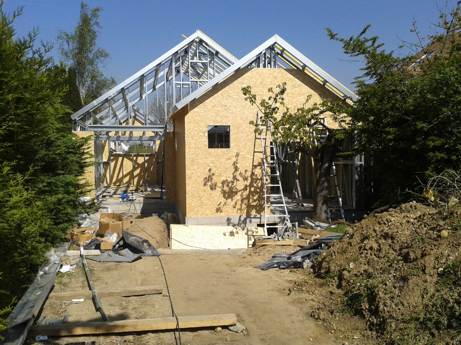 Construction maison ossature metallique kmg entreprise de de construction freneuse 78 - Construction maison ossature metallique ...