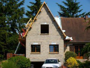 Maçonnerie agrandissement maison